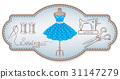 dress, sewing, vector 31147279