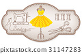 dress, sewing, vector 31147283