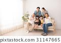 三代家庭宠物画象图象 31147665