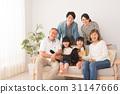 三代家庭宠物画象图象 31147666