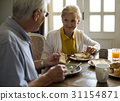Senior Adult Couple Eat Breakfast 31154871