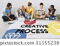 Creativity artistic ideas icon graphic 31155236