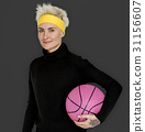 Woman Smiling Happiness Basketball Sport Portrait 31156607