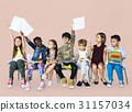 Group of students educated child development 31157034