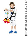 Little boy with astronaut dream job smiling 31157817