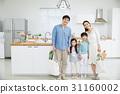 가족, 미소, 아빠 31160002