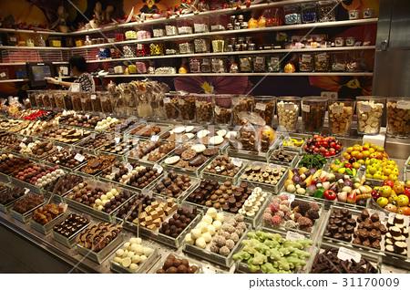 초콜릿,보케리아시장,람블라스,바르셀로나,카탈루냐,스페인 31170009