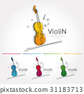 The stylized image of Violin 31183713