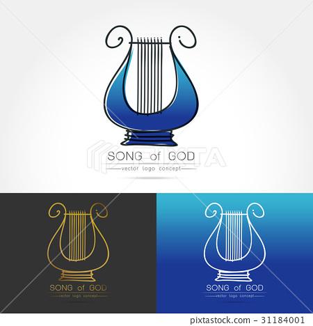 stylized image of lyre logo 31184001