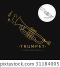 trumpet logo vector 31184005