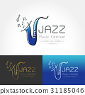 The stylized image of saxophone 31185046