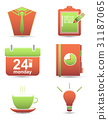 set icons. time management business 31187065