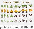 set web icons. Tree and seasons 31187099