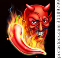 Flaming Hot Pepper and Devil 31189299