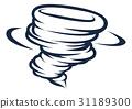 Tornado Cyclone Hurricane Twister Icon 31189300