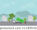 garbage transportation, Truck delivery 31189540