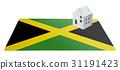 Small house on a flag - Jamaica 31191423