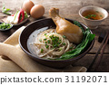 Asian noodles, bowl of noodles with vegetables and 31192071