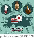 hawaii, tropical, vector 31193070