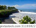 Pura Tanah Lot Temple of Bali under blue sky 31193822