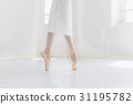 Young ballerina dancing, closeup on legs and shoes 31195782