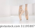 Young ballerina, closeup on legs and shoes 31195887