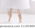Young ballerina, closeup on legs and shoes 31195889