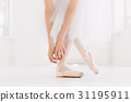 Young ballerina dancing, closeup on legs and shoes 31195911