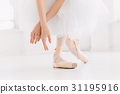 Young ballerina dancing, closeup on legs and shoes 31195916