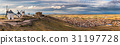panorama of legendary windmills in Consuegra,Spain 31197728
