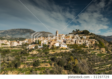 Ancient city of Polop in Costa Blanca, Spain 31197729