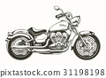 Hand-drawn vintage motorcycle. Classic chopper. 31198198