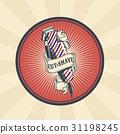 Vector vintage badge, sticker, sign for barber 31198245