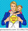 Super dad and his beloved daughter 31198278