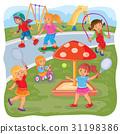 Girls playing on the playground 31198386