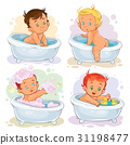 bath, child, vector 31198477