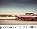 Old american car on street in Havana,Cuba 31198848