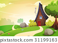 spring, house, road 31199163