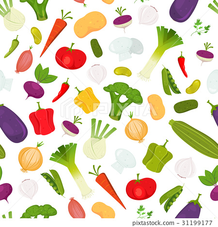 Seamless Vegetables Background 31199177