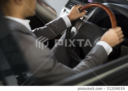Businessman Drive Car Hands Steering Wheel 31209039
