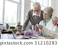 Senior Adult Knitting Leisure Female Concept 31210283