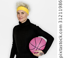 Woman Smiling Happiness Basketball Sport Portrait 31211986