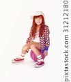 Little Girl Smiling Happiness Basketball Sport Portrait 31212180