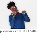 African Woman Vocal Singing Music Microphone 31212406