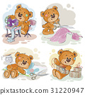 Set of clip art illustrations of teddy bears and 31220947