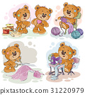 Set of clip art illustrations of teddy bears and 31220979