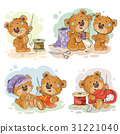 Set of clip art illustrations of teddy bears and 31221040