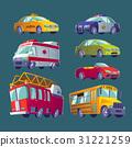 Cartoon set of isolated icons of urban transport 31221259