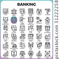 Banking concept icons 31222258