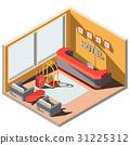 3D isometric illustration interior of hotel lobby 31225312